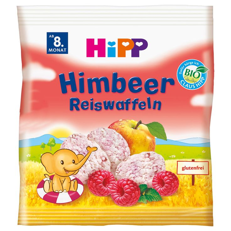 -in USA- HiPP Organic Raspberry Rice cakes for babies -8 months and up