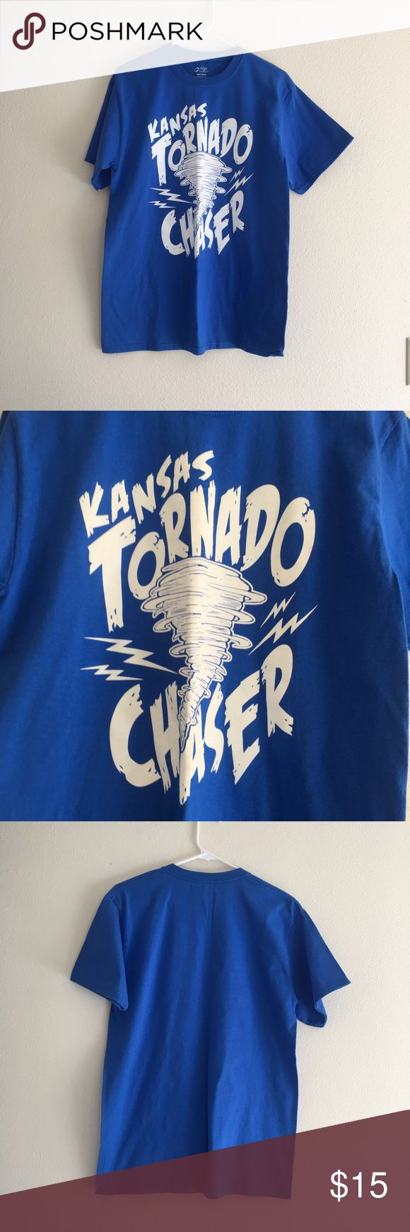 Kansas Tornado Chaser Tee Item Just added. Description coming next! Stay tuned   ☑️No Pets  ☑️Non-Smoking home  ☑️Every item steamed throughly before shipped!   Ships from Santa Monica, CA  Follow me on Instagram! @koukil1908 ask to have a video of the item ✌️ Tops Tees - Short Sleeve