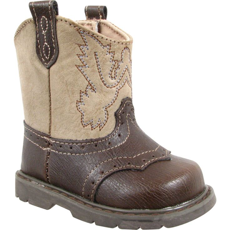 brown cowboy boot in toddler sizes