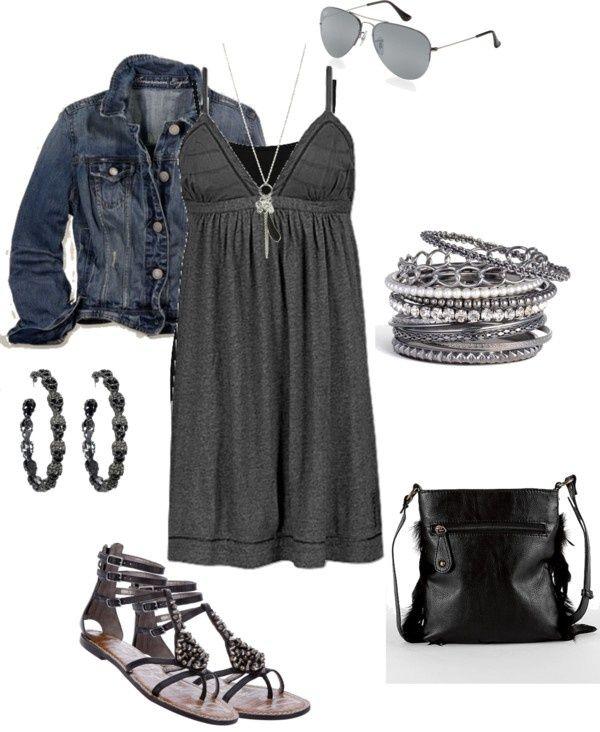 Love!: Dream Closet, Cute Dresses, Spring Summer, Jean Jackets, Summer Outfits, The Dress, Rebel Rebel, Summer Nights
