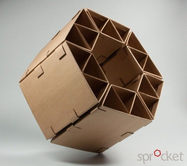 Sprocket Cardboard Chair - Photo 2 | Image courtesy of Winston Cuevas - Michelle Lee - Elliot Ouchterlony - Hala Khoursheed