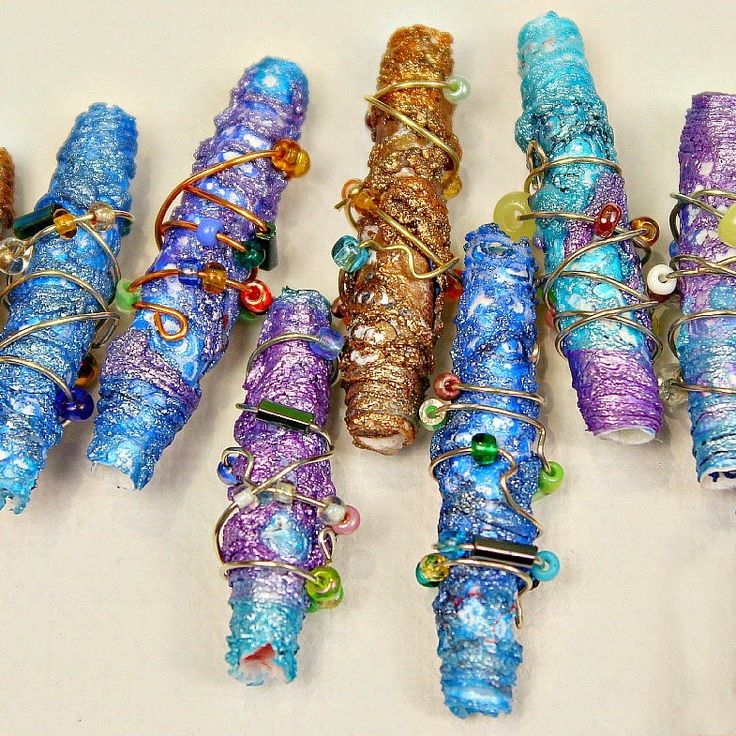 DIY Tutorial - Make Beautiful Metallic Beads Using  Recycled Tyvek Envelopes…