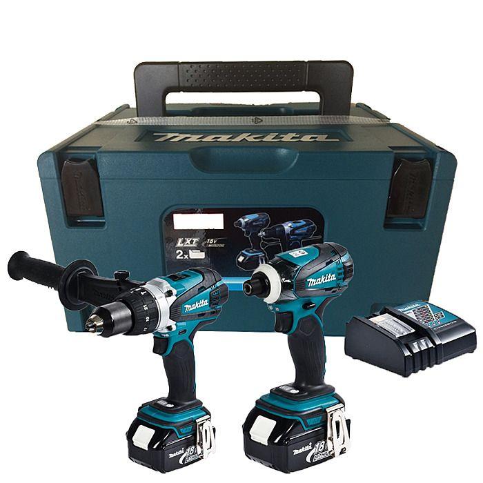 Makita DLX2005M Cordless Kit Combi Drill & Impact Driver DHP458 DTD146