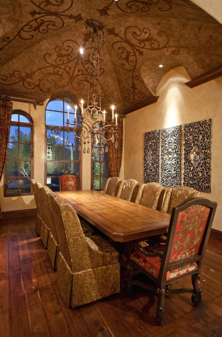 83 best images about tuscan decor and design on pinterest for Tuscan dining room ideas