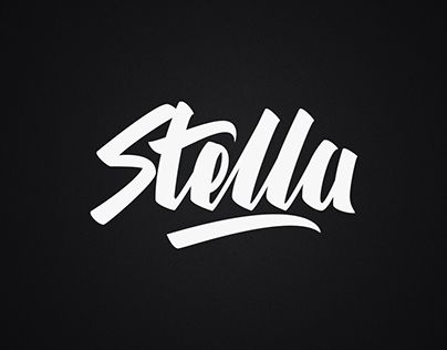 """Check out new work on my @Behance portfolio: """"Stella Lettering"""" http://be.net/gallery/44430539/Stella-Lettering"""