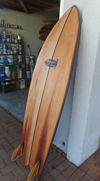 Woodpecker Natural Surfboards  The first Fish, low gloss high Polish, has a super natural look