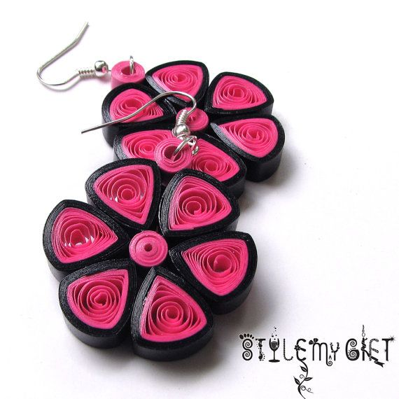 Full Bloom  Paper Quilled Earrings by StyleMyGift on Etsy, $10.00