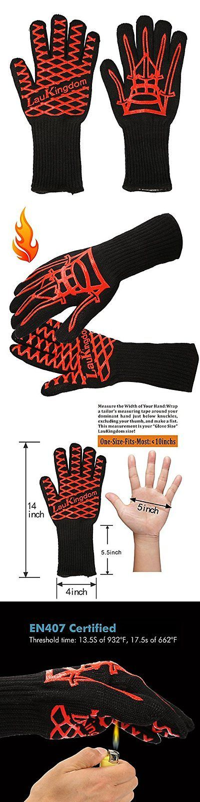 Oven Mitts and Potholders 20661: Laukingdom Cryogenic Gloves Bbq Grilling Cooking Glove 932F Extreme Heat Oven -> BUY IT NOW ONLY: $36.9 on eBay!