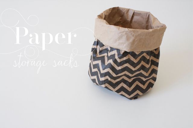 How to make a cute Paper Sack. I bet this could be done with burlap or other cute fabrics also (sewn, rather than taped of course).