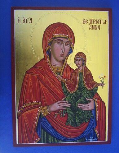 St.Anna 50 x 30 cm gold leaf 23k By www.anatasipsixis.com