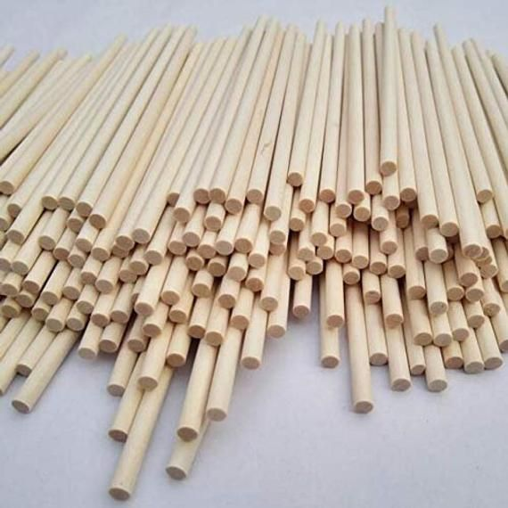 Wood Dowel Rods 1 8 X 12 100 Pc By Woodnshop Etsy In 2020 Tabletop Christmas Tree Wood Dowels