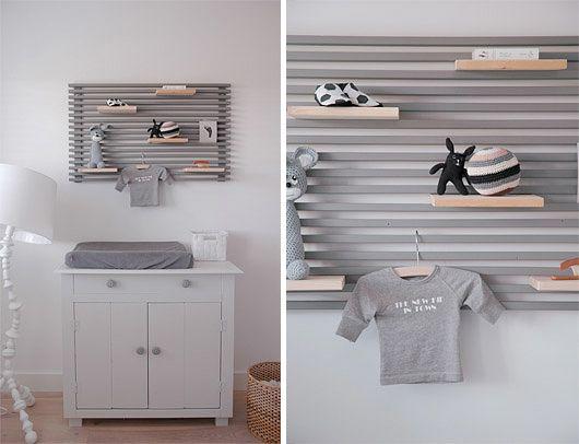Smart väggförvaring både för vuxen- och barnrum.