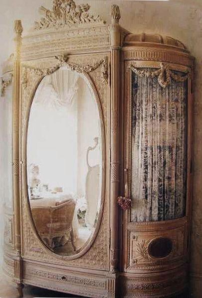 Victorian Furniture Armoire - Wardrobe