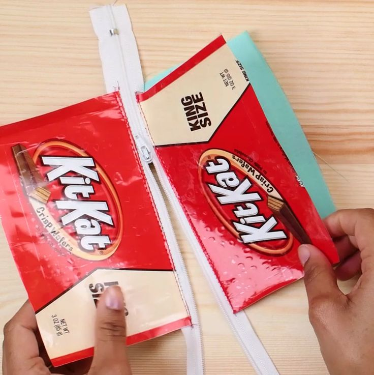 Keep those candy wrappers from trick or treating, we are going to use them to make some cool pouches!