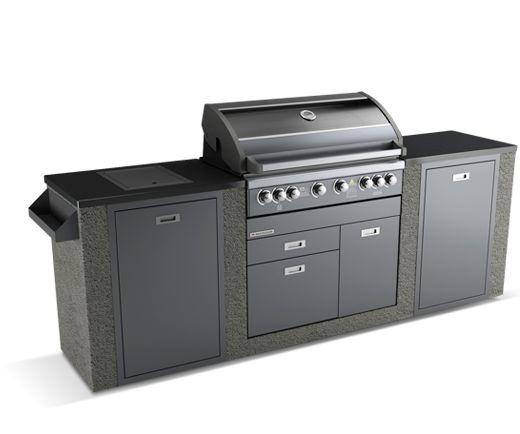 Matador Grande 6 Burner Outdoor Kitchen with single door fridge $3099 2.9m