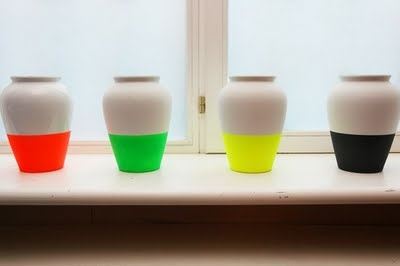 Decorative neon vases