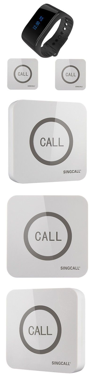 Pagers: Singcall Wireless Service Calling System 1 Waterproof Watch, 2 Touchable Bells BUY IT NOW ONLY: $99.99