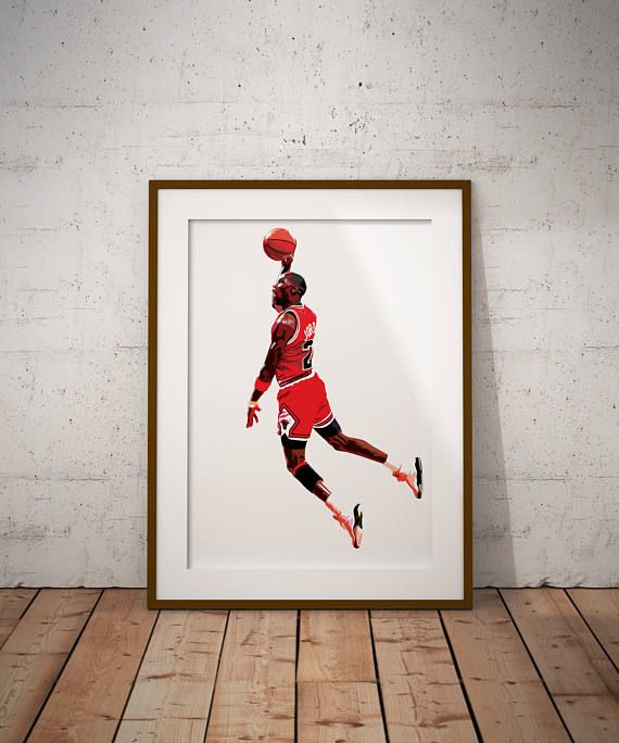 Michael Jordan Vector Illustration Print