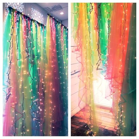 making a tulle curtain like this for a ceremony backdrop.