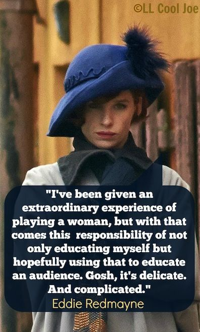 Eddie Redmayne on his role as transgender artist Lili Elbe in The Danish Girl