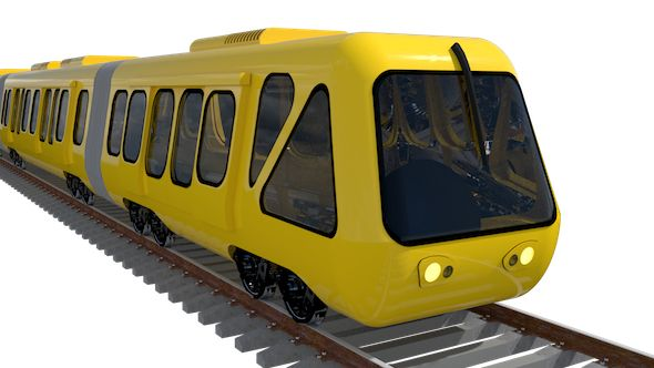 Train  Editable 3D model of a train  #3D #3DModel #3DDesign #train