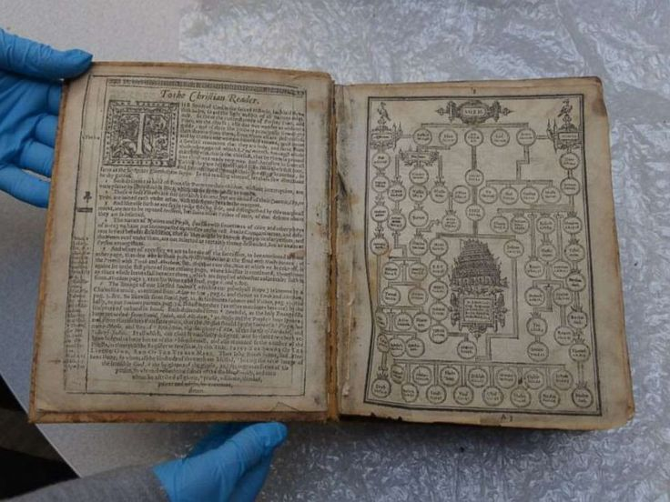 PHOTO A stolen Geneva Bible, dating to 1615, was