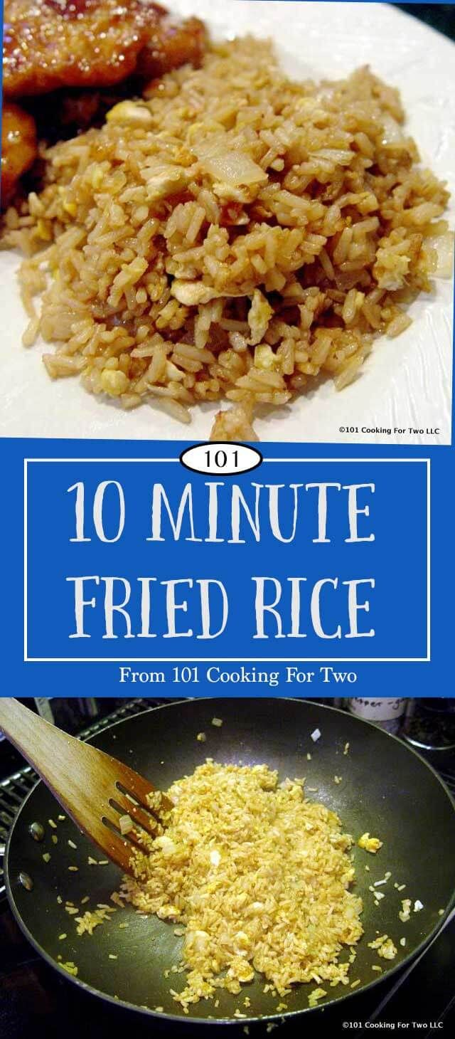 """An easy fried rice recipe using Minute Rice for that """"eat in"""" Chinese meal. Another quick, use what you have on hand, recipe. via @drdan101cft"""