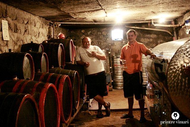 Crama Szakacs Bela, tatal si fiul / Szakacs family wine cellar.