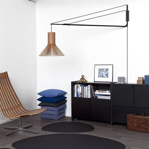 Secto Design Varsi 1000   Pendants   Lighting   Finnish Design Shop. Varsi 1000 by Secto Design is a suspension arm that allows you to attach your pendant into the wall whenever ceiling installation is not an option.