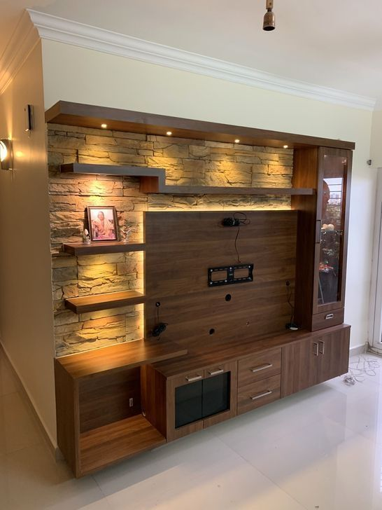 200 Tv Stand Room Divider Ideas In 2021, Living Room Tv Wall Design Wood