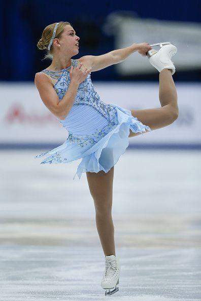 Nicole Rajicova of Slovakia competes in the Ladies Short