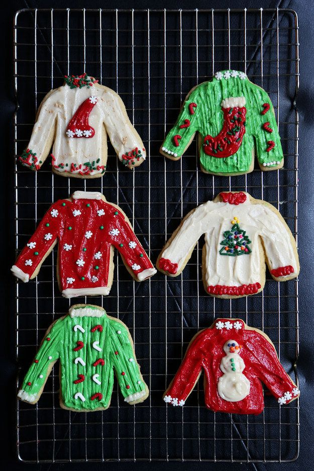 Ugly Sweater Christmas Cookies | 27 Holiday Cookies That Are Almost Too Cute To Eat