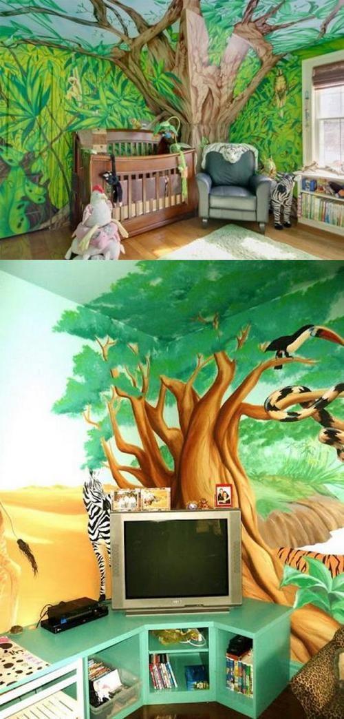 25 Attractive Jungle Kids Room Designs and Decor