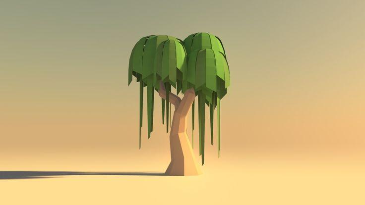 Quick Stylized Low poly Tree in Maya, Shashank Mehta on ArtStation at https://www.artstation.com/artwork/d61E3