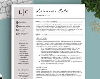 Professional and Modern Resume Template for Word & Pages: Elliot Grey   - Instant Download - US Letter and A4 sizes included  - Mac & PC Compatible using Microsoft Word or Mac Pages  __________________  COUPONS: -> 2 Resumes for $25 ($USD) with code GETLANDED -> 3 Resumes for $35 ($USD) with code GETLANDED3  BONUS:  -> Each purchase includes a Get Landed™ Resume Writing Guide: 7 pages packed with my most crucial tips and tricks to help you create the best possible resume…