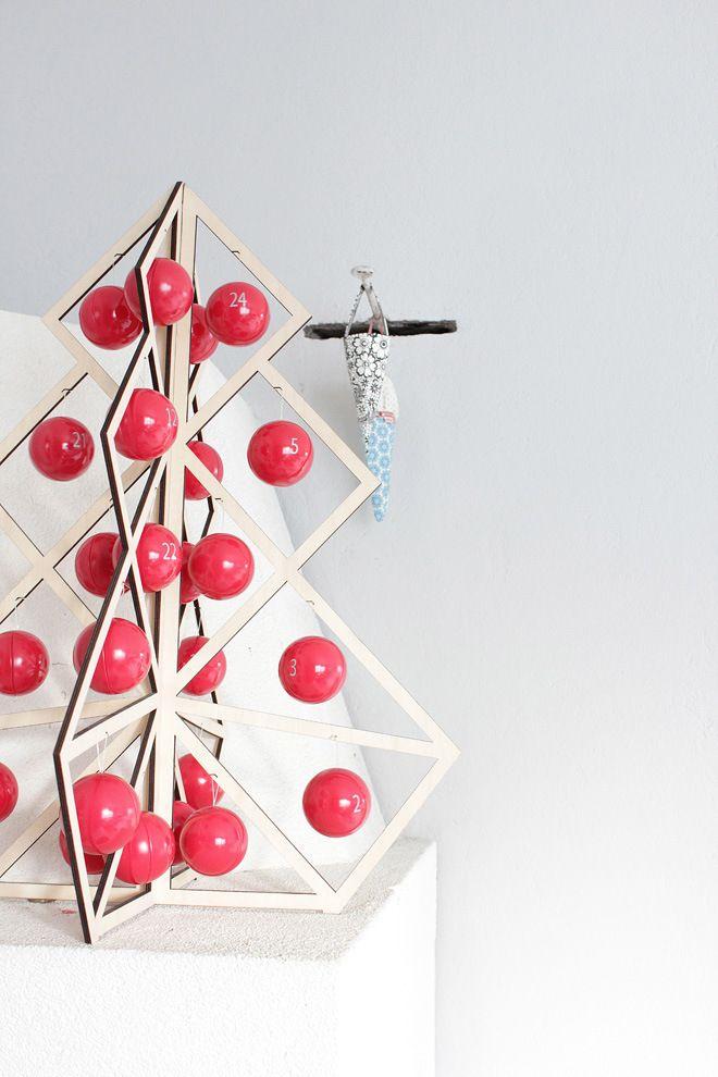 Tree24 reusable advent calendar - Wooden  http://www.beandliv.com/products/tree-24-wooden #beandliv #design