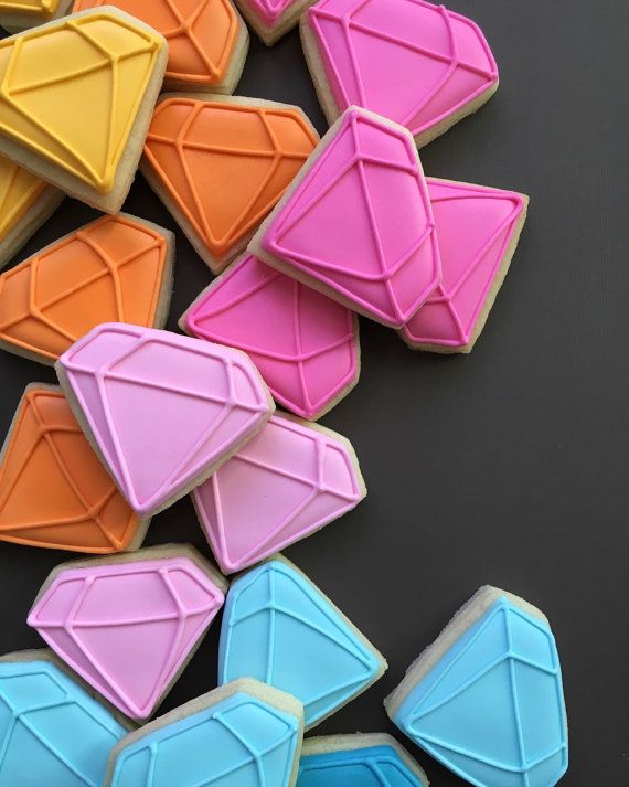 Diamond Sugar Cookies by HollyFoxDesign on Etsy