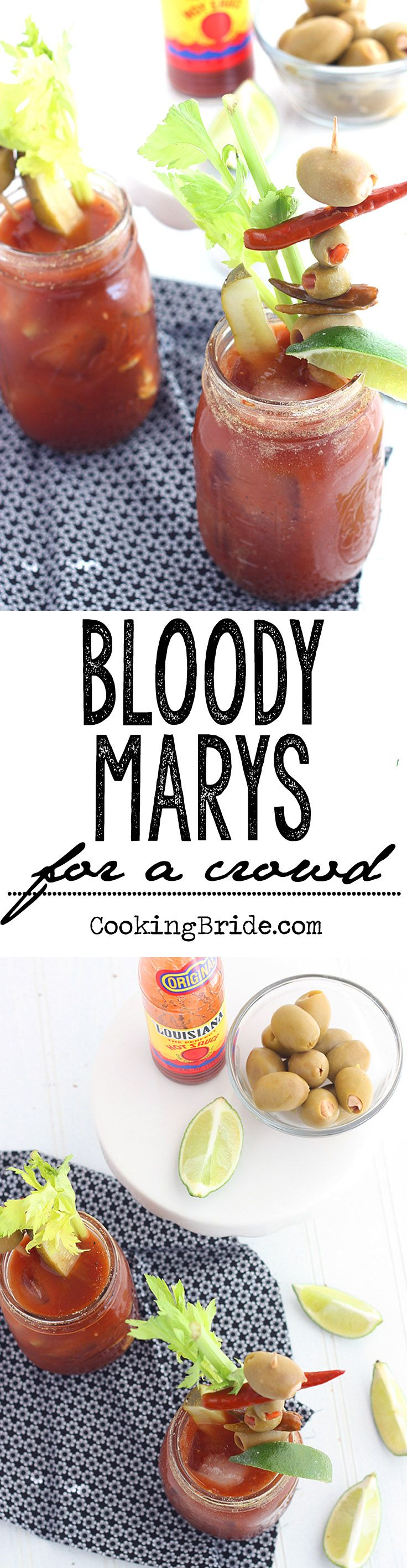 Easy-to-follow recipe for preparing a pitcher of Bloody Mary mix for a crowd.