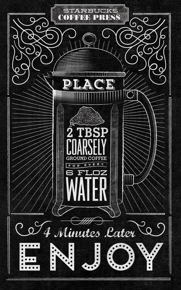 Starbucks - Home Brew Typographic Mural by Jaymie McAmmond, via Behance