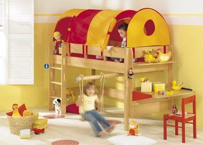 Las 25 mejores ideas sobre camas altas en pinterest - Literas infantiles divertidas ...
