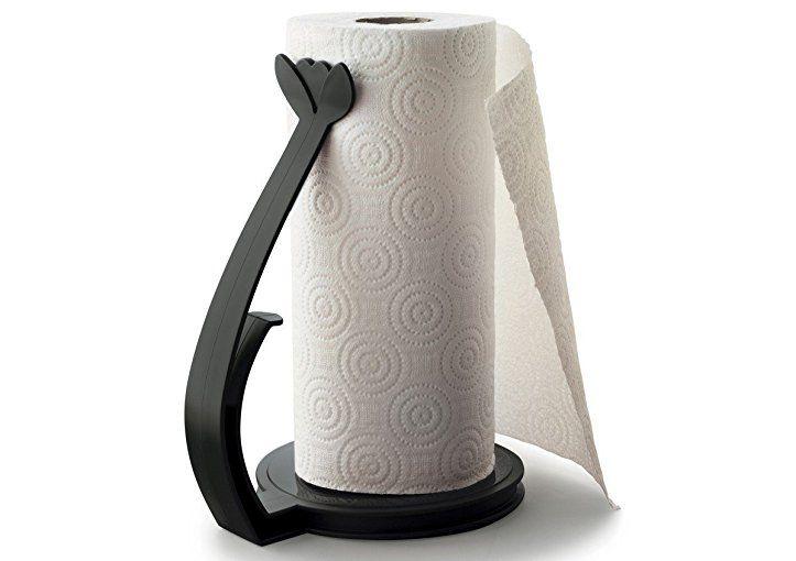 TUPPERWARE Küchenhelfer Halter Küchenrollen-Halter schwarz - halter für küchenrolle