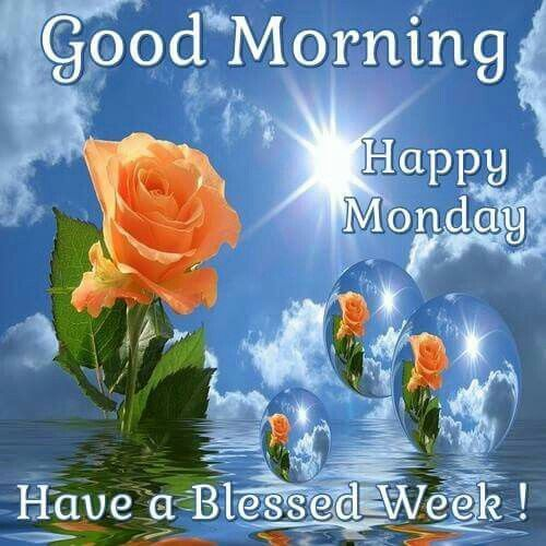 images of good monday morning have a blessed week | Good Morning, Happy Monday, Have A Blessed Week Pictures, Photos, and ...