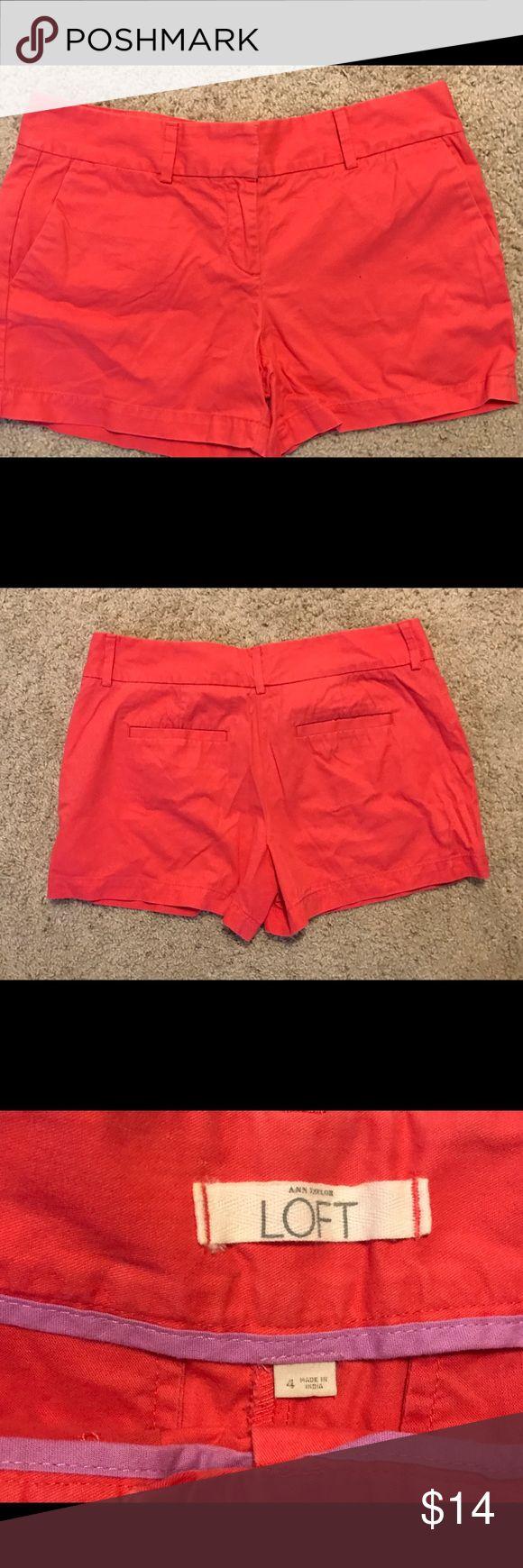 Anne Taylor Loft shorts Super cute Coral color Anne Taylor shorts.  EUC LOFT Shorts