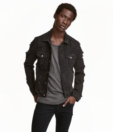 die besten 25 jeansjacke schwarz herren ideen auf pinterest jeansjacke kombinieren m nner. Black Bedroom Furniture Sets. Home Design Ideas