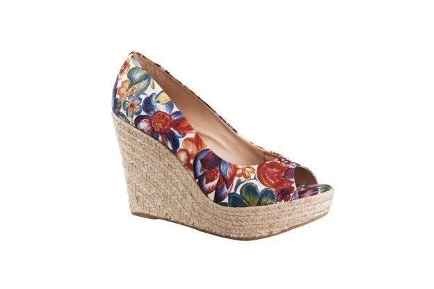 Plataformas floreadas multicolor @zapatosgacel #Zapatos #ZapatosGacel #Gacel