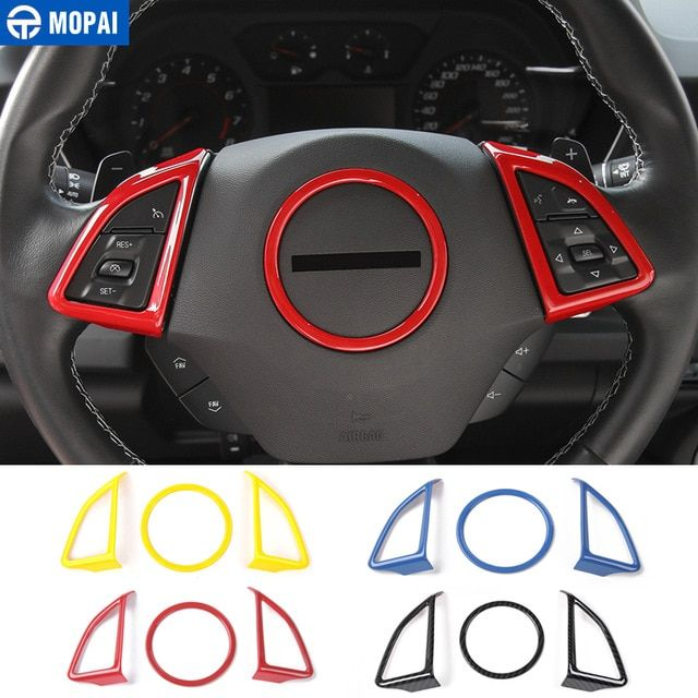 Mopai Abs Car Interior Steering Wheel Decoration Cover Trim Stickers For Chevrolet Camaro 2017 Up Car Accessories Styling R Chevrolet Camaro Camaro Wheel Decor