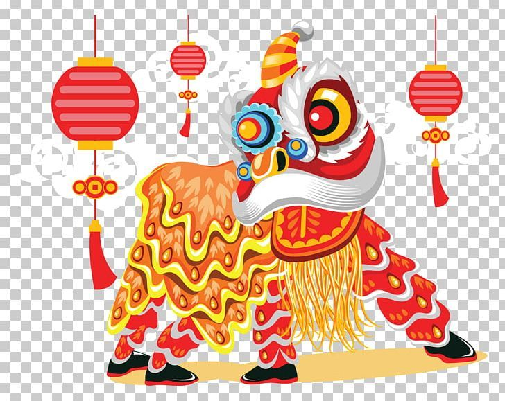 Lion Dance Chinese New Year Illustration Png Animals Art Cartoon China Chinese New Year Illustration Lion Dance Chinese New Year