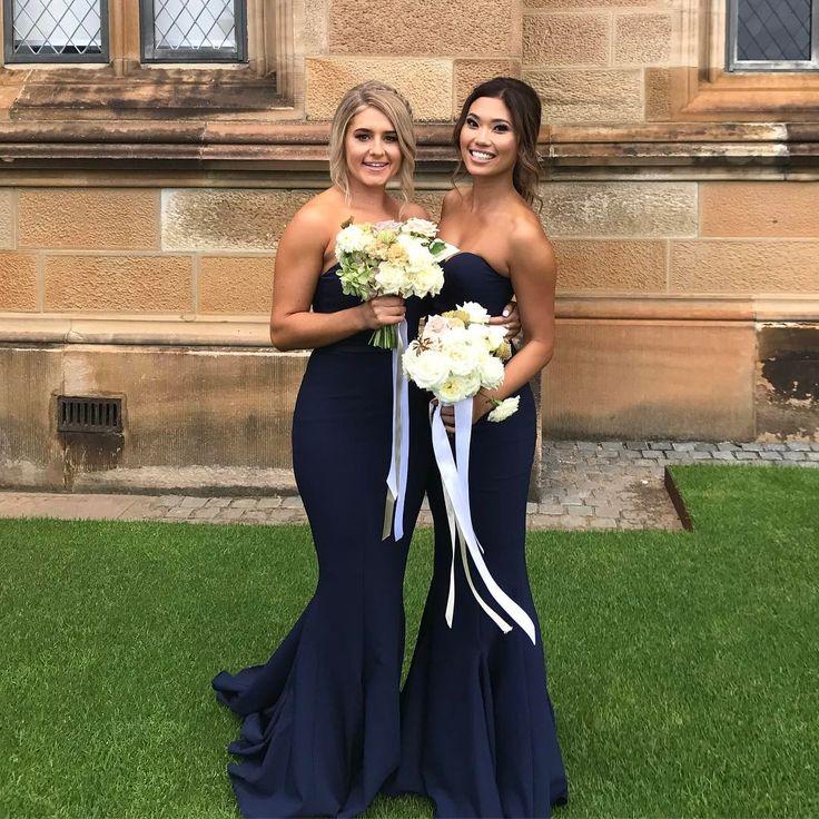 Beautiful bridesmaids in White Runway dress.