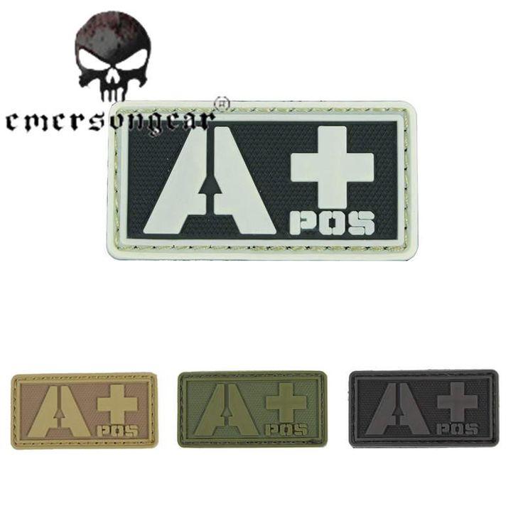 [Visit to Buy] Emerson Rescue APOS Blood Type Patch Military 3D PVC Paramedic Patch Battle Tactical Uniform Helmet Vest Bag Badge Hook Loop #Advertisement