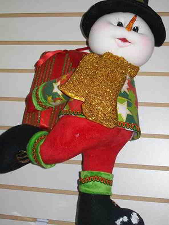 Muñeco de nieve con regalo de navidad